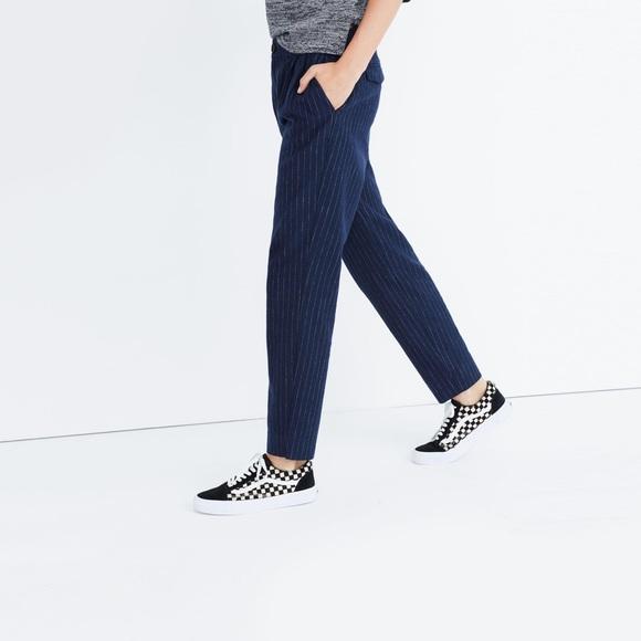 Pinstriped Seersucker Track Pants
